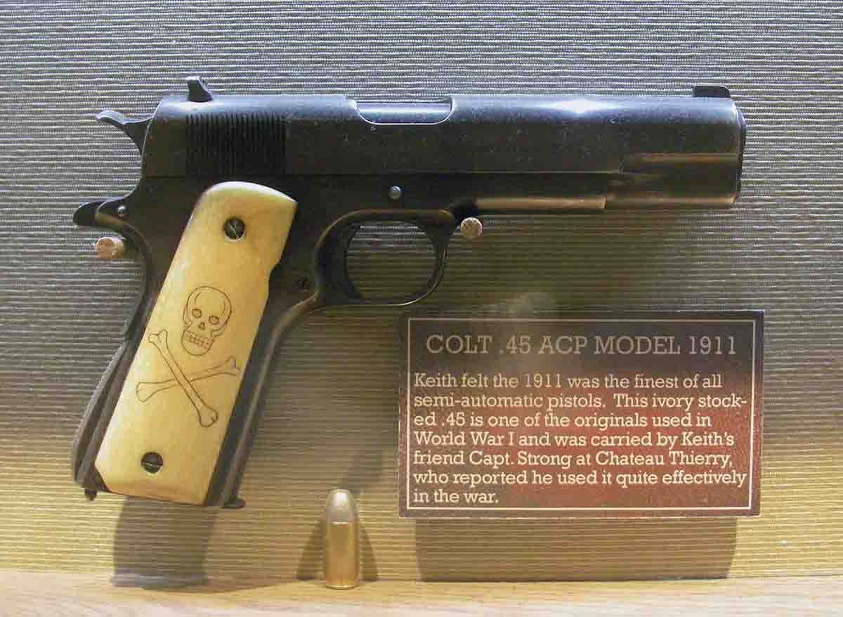 This ivory-handled Colt Model 1911 .45 ACP saw use in World War I