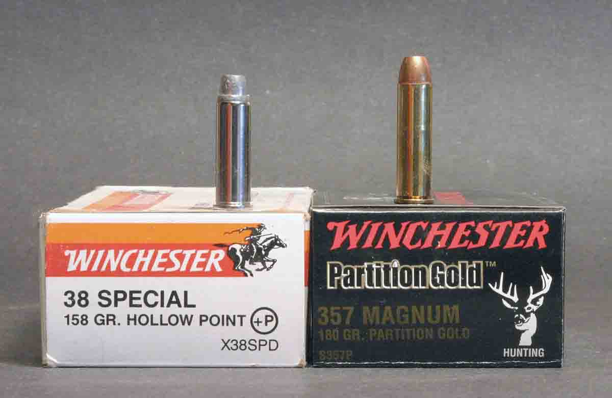 The .38 Special and .357 Magnum are the two most popular centerfire revolver rounds, partly because the .38 can be fired in .357 revolvers.