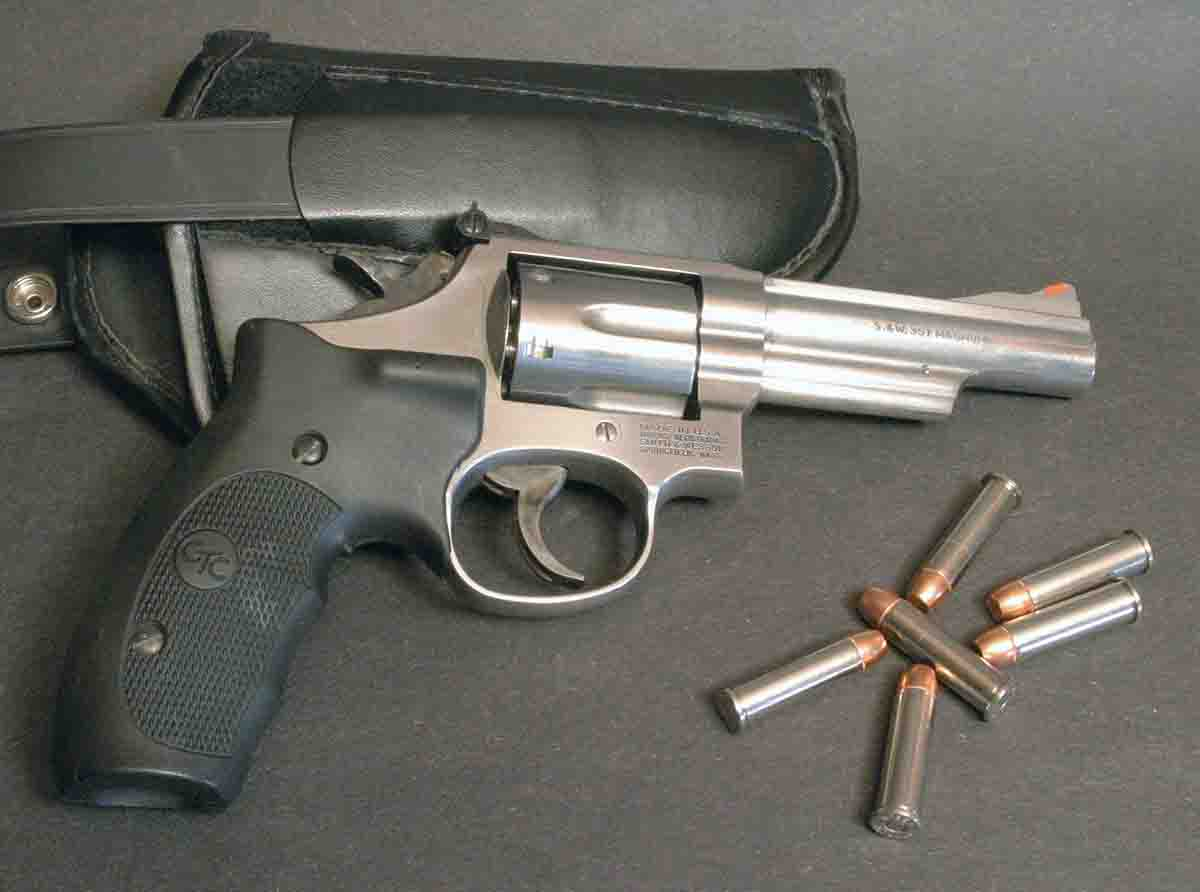 The .357 Magnum is still a favorite self-defense round for those who prefer a revolver like this Smith & Wesson Model 66 to an autoloader.