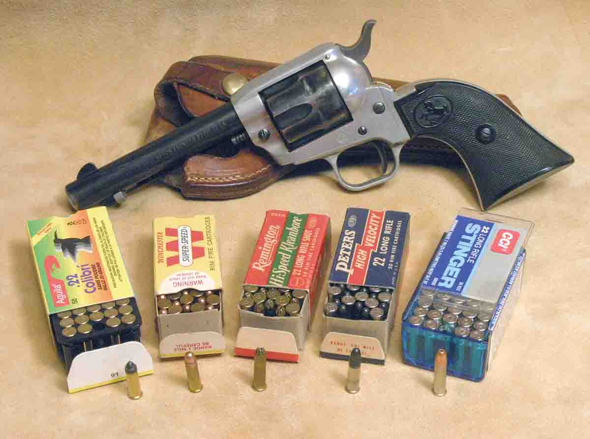 A .22 rimfire revolver will handle about any .22 cartridge made, something good revolvers like John's Colt have been doing for well over a century.