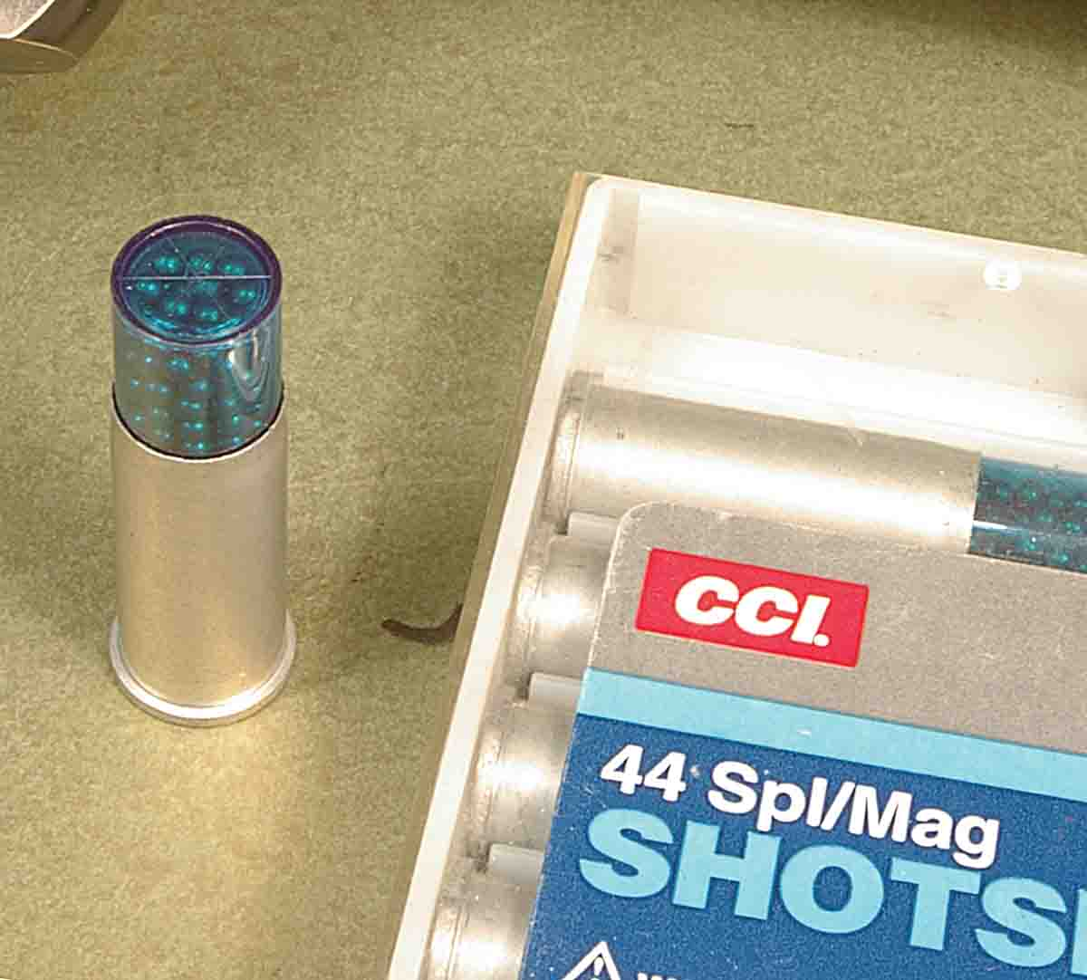 If you feel threatened by snakes or English sparrows, CCI makes a shotshell load for the .44.