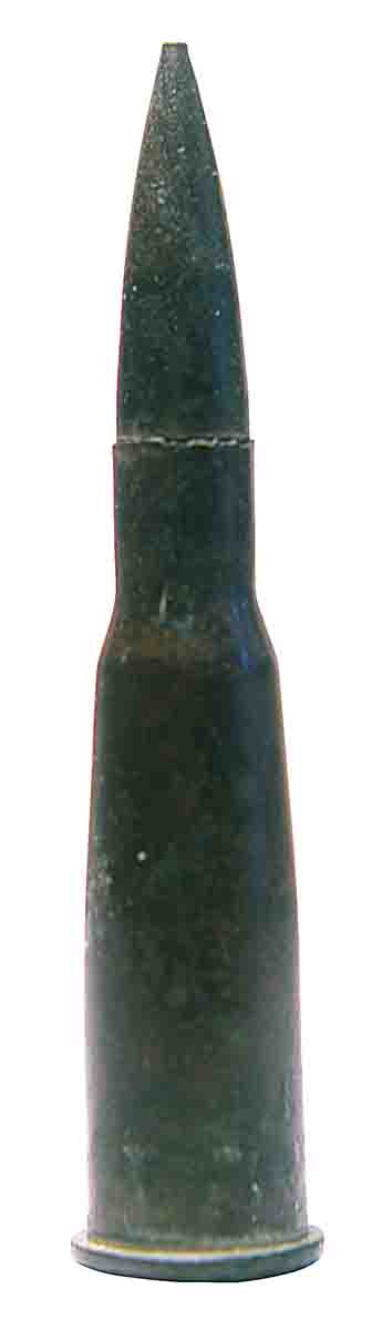 The 8mm Lebel was the first smokeless powder cartridge, adopted by the French military in 1886.