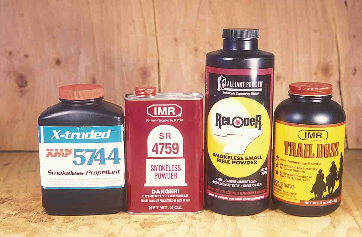 These modern smokeless powders are well suited for cast bullet use in black powder and early smokeless powder cartridges.