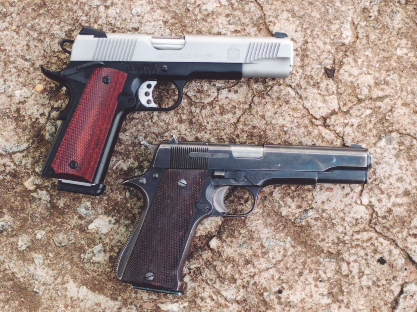 The Star Modelo Super, compared to a modern Springfield pistol, is obviously similar to the 1911 pistol but with some features Bob feels would be an improvement on the 1911.