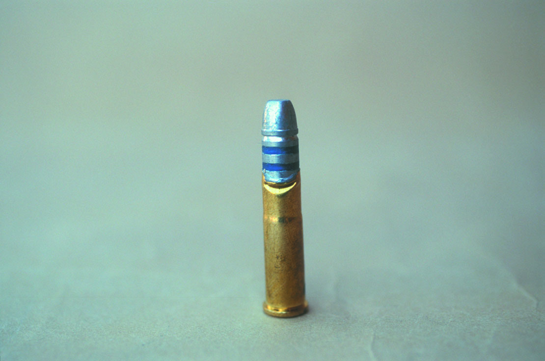 This .32-20 Winchester cartridge was not flared enough at the case mouth and buckled while attempting to seat the bullet.