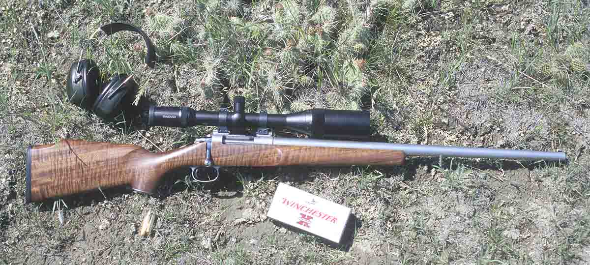 The Dakota Arms Serious Predator rifle is a single-shot bolt action, fitted with a Lilja barrel and AAA Claro walnut stock. It is topped with a Swarovski 6-24x PH-Series scope.