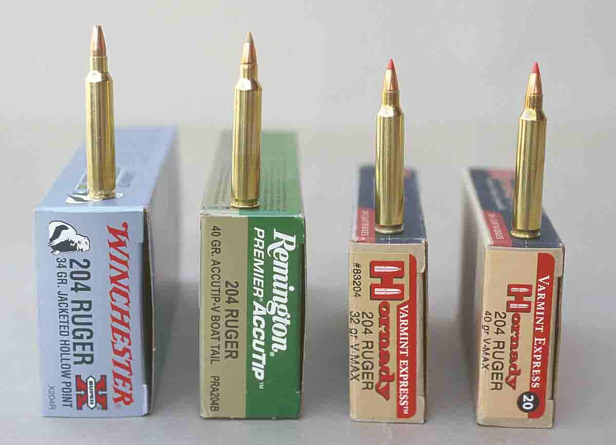 Hornady, Winchester and Remington are offering loads for the .204 Ruger.