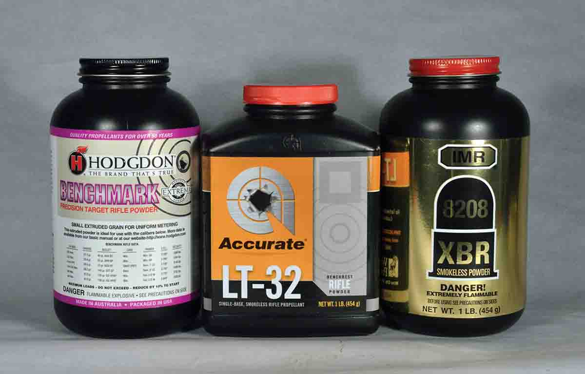 Several powders proved suitable for the .24 Nosler.