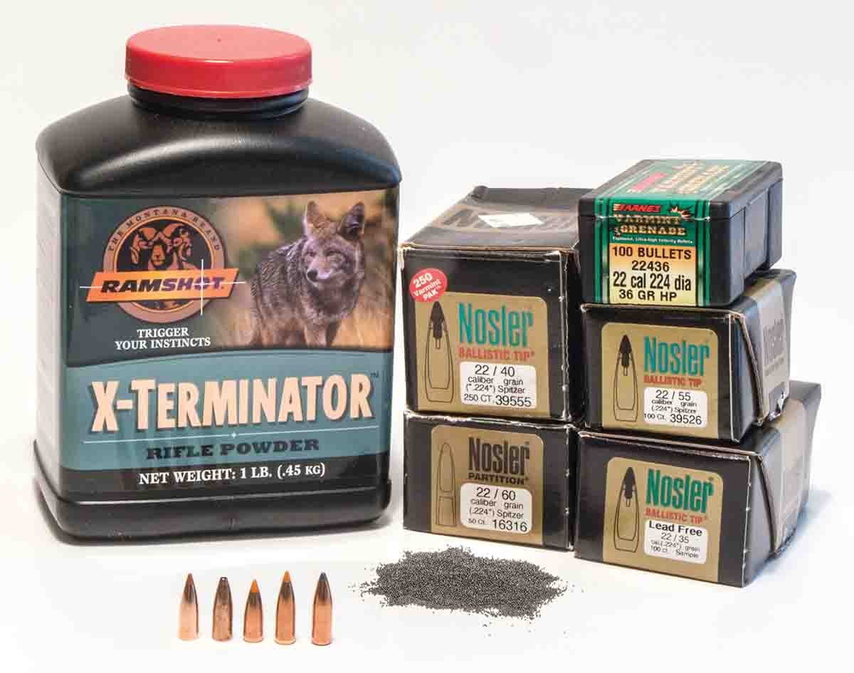 For handloading the .223 Remington, with any bullet weight, Ramshot's X-Terminator powder is a great place to start.